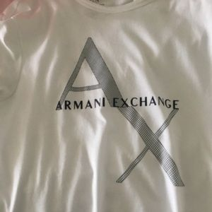 White Armani exchange tee